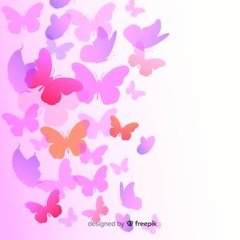 Steigungsschmetterlingsschattenbilder fliegen