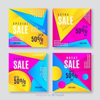 Steigungsverkauf instagram beitragssammlung