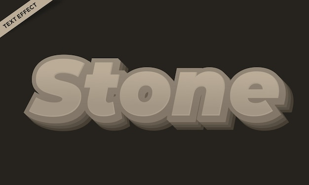 Steinfarbenes texteffektdesign