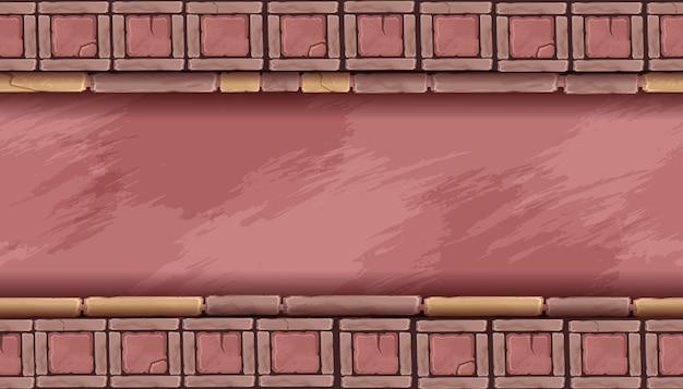 Steinmosaik nahtlose hintergrund abstrakte felsfliese vektor textur geometrische ethnische verzierung