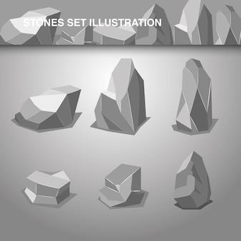 Steinsatz-illustration