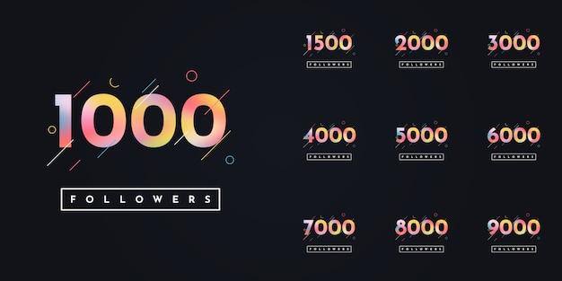 Stellen sie 1000 bis 10000 follower design ein