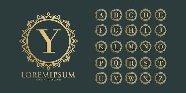 Stellen sie alphabethochzeitsschrift elegant ein