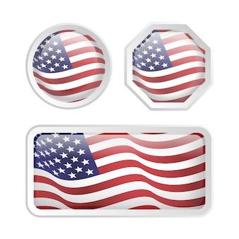 Stellen sie amerikanische flagge ein