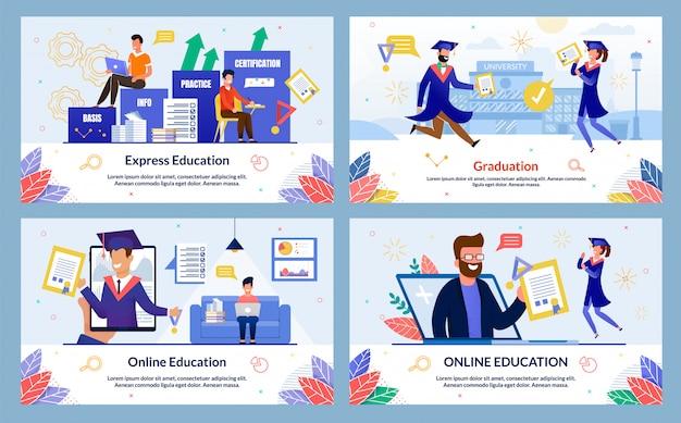 Stellen sie banner online education ein