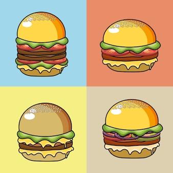 Stellen sie dämonischen hamburger fastfood
