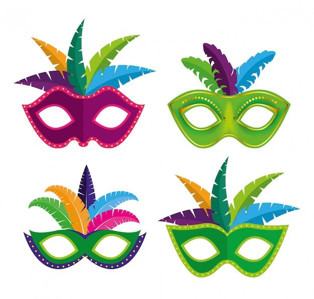 Stellen sie dekoration des karnevalfestivals ein