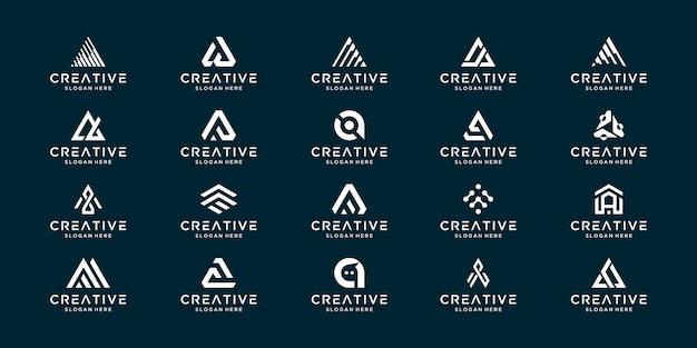 Stellen sie den kreativen sammlungsbrief ein