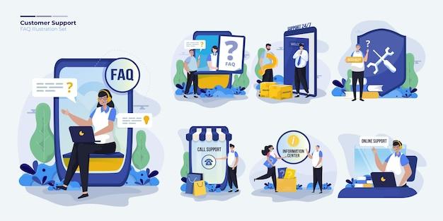 Stellen sie den kundensupport für die faq oder die kontaktseite ein