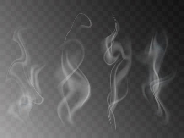 Stellen sie den rauch ein, der auf transparentem getrennt wird