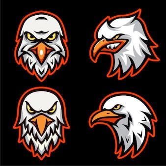 Stellen sie die eagle head-logo-vorlage ein