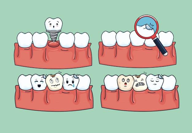 Stellen sie die hygiene der zahnbehandlung mit medizinischen geräten ein