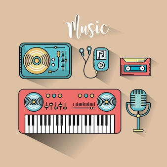 Stellen sie elemente ein, um musik zu hören und zu spielen