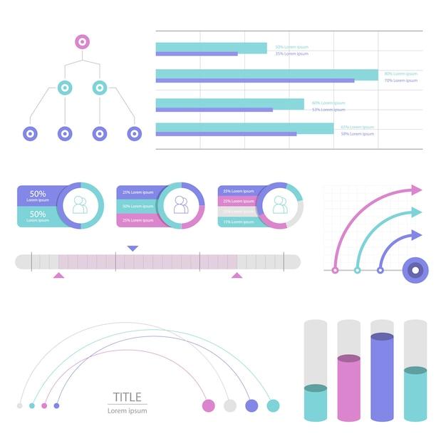 Stellen sie elemente von infografik ein