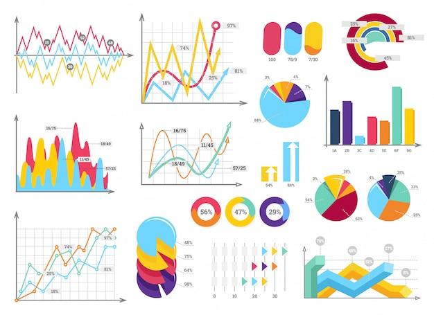 Stellen sie elemente von infografiken ein