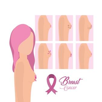 Stellen sie frau brustkrebs-überlebender ein