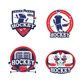 Stellen sie hockey sport mit professioneller ausrüstung