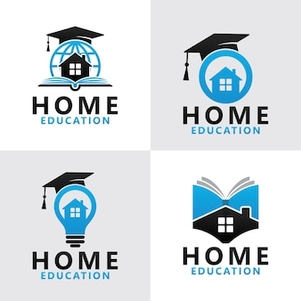 Stellen sie home education logo vorlage