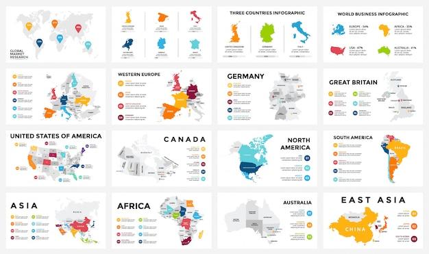 Stellen sie infografiken für das geschäftskonzept ein. isometrisches infografik-design -