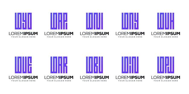 Stellen sie modernes buchstaben-b-logo-design ein