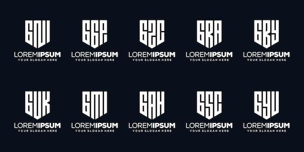 Stellen sie modernes buchstaben-p-logo-design ein