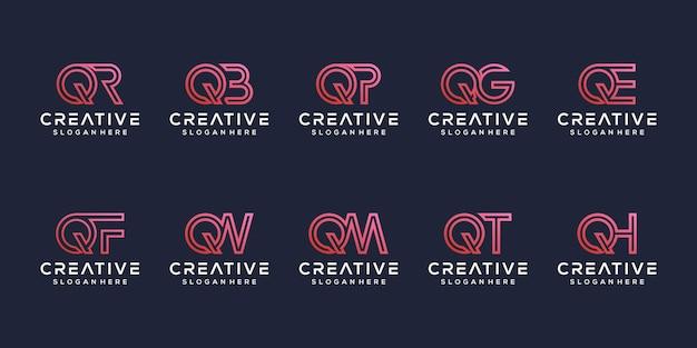 Stellen sie modernes logo-design für den buchstaben q ein