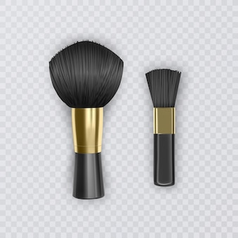Stellen sie professionelle kosmetische make-up powder blusher, realistische illustration illustration