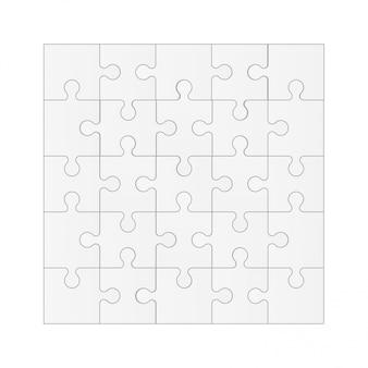 Stellen sie puzzleteile, mosaikhintergrund ein.