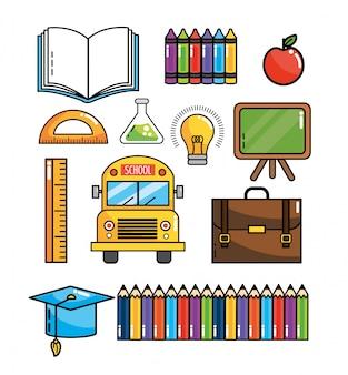 Stellen Sie Schulmaterial zur Unterstützung von Schulwissen ein