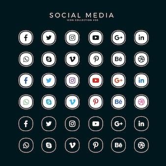 Stellen sie social media icons ein