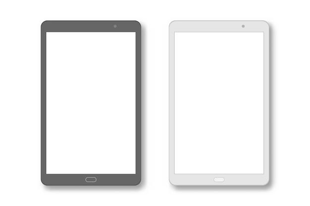 Stellen sie tablet-pc mit leerem bildschirm ein