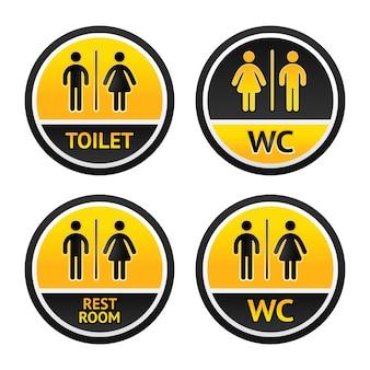 Stellen sie toilettensymbole ein
