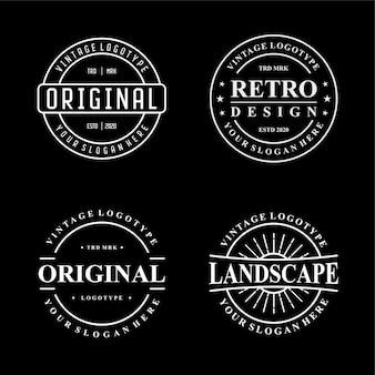 Stellen sie vintage-logo-design ein