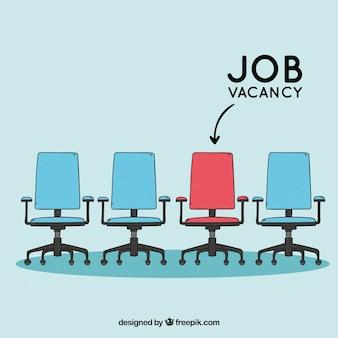 Stellenangebothintergrund mit Stühlen