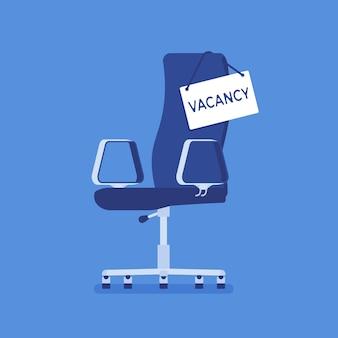 Stellenangebotsstuhl anmelden für stellenbewerber