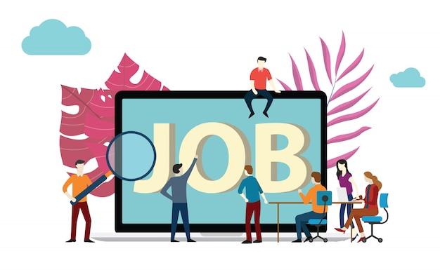 Stellensuche oder rekrutierung