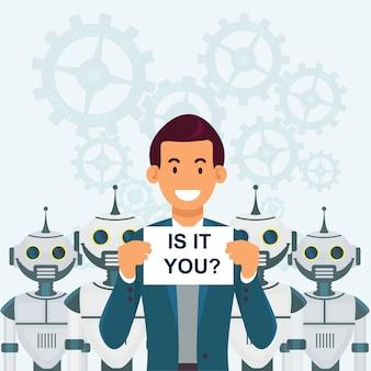 Stellensuche, roboter und mechanismen.