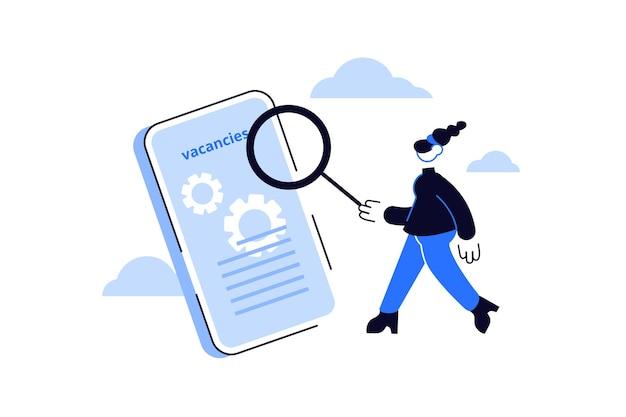 Stellensuche und rekrutierung