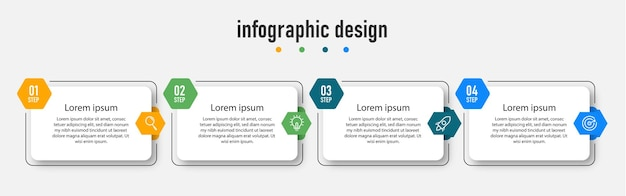 Steps timeline infografik designvorlage