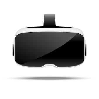 Stereoskopische vr-illustration. virtuelle digitale cyberspace-technologie. innovationsgerät.