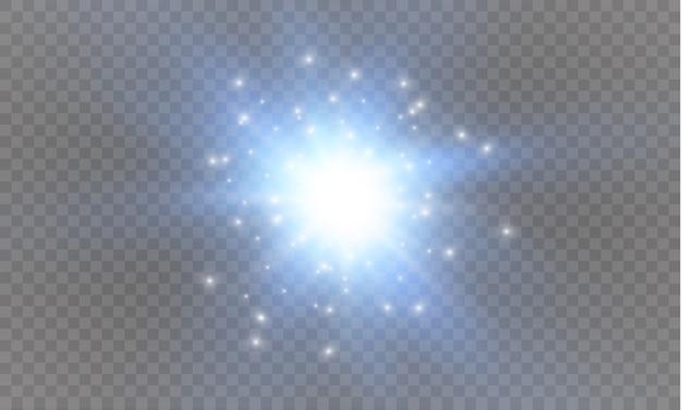 Stern auf einer transparenten hintergrundillustration