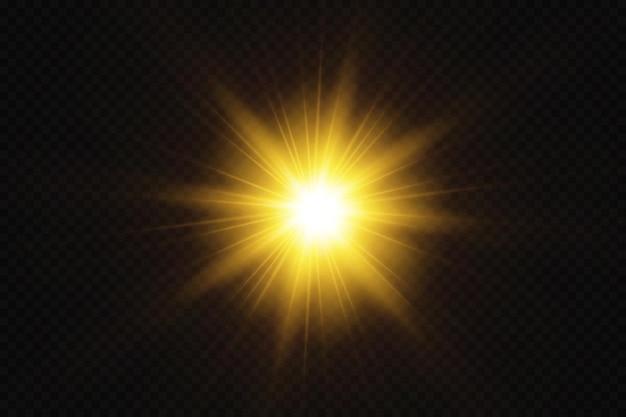 Stern auf transparentem hintergrund