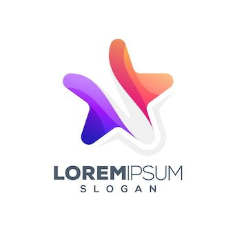 Stern buntes logo-design