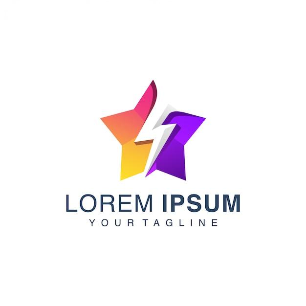 Stern donner logo vorlage