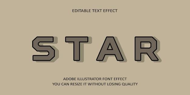 Stern editierbarer text schrift effekt