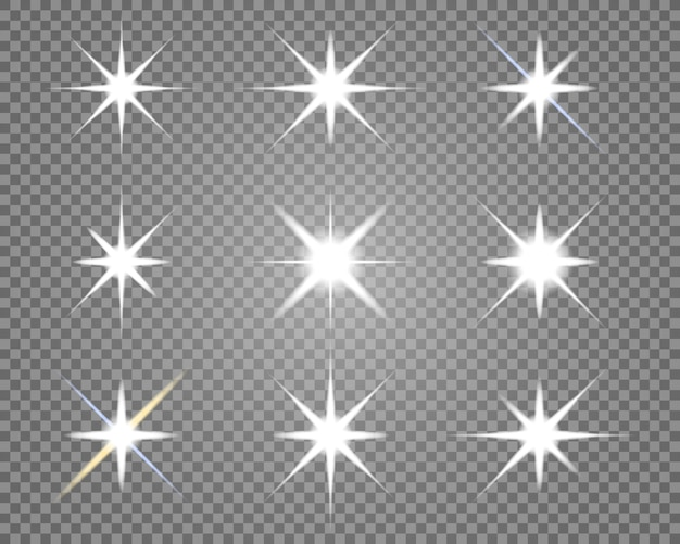 Stern explodiert auf transparentem hintergrund.