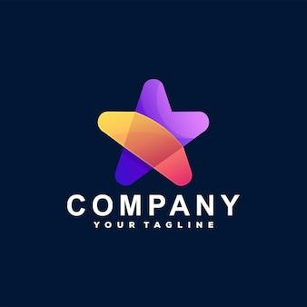 Stern farbverlauf logo logo design