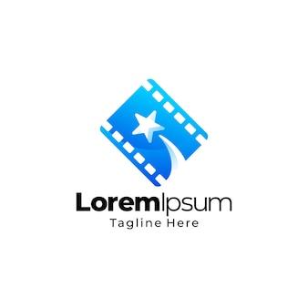 Stern film logo farbverlauf vorlage
