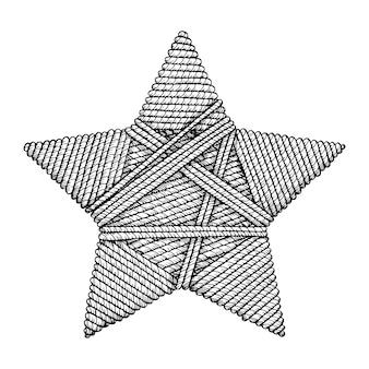 Stern gestrickt.