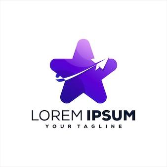 Stern lila farbverlauf logo design